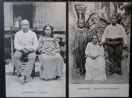 Iles Gilbert Lot 2 Cpa Indigenes Et Chef Butaritari - Kiribati