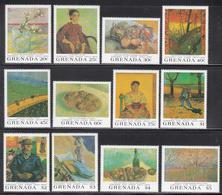 1991 Grenada Art Paintings Van Gogh Complete Set Of 4 + 5 Sheets MNH - Grenade (1974-...)