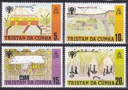 Tristan Da Cunha 1979 Organisationen UNO ONU UNICEF Kinderzeichnungen Kinder Children Kirche Pinguine, Mi. 266-9 ** - Tristan Da Cunha