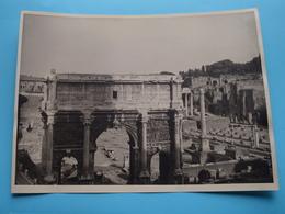 ROME Arc Du Sept Sévère / Italy ( Format Photo 23,5 X 17,5 Cm. ) Anno 1951 ( Zie/Voir/See Photo ) ! - Lugares