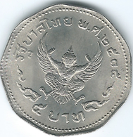 Thailand - Bhumibol - BE2515 (1972) - 5 Baht - KMY98 - ๒๕๑๕ - Thailand