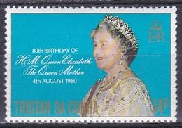 Tristan Da Cunha 1980 Geschichte History Persönlichkeiten Königshäuser Royals Königinmutter Elisabeth, Mi. 279 ** - Tristan Da Cunha