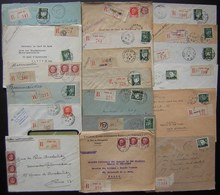 Paris Lot De 19 Lettres Recommandées Des Années 1940, Différents Bureaux Timbres Pétain, Voir Photos - 1921-1960: Période Moderne