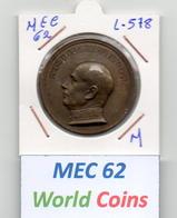 MEC 62 - REPUBLICA PORTUGUESA MEDALHA AMERICO THOMAZ - L-578 - Entriegelungschips Und Medaillen