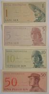 Lot De 4 Billets D'Indonésie Année 1964 Pick 90/91/92/94 Neuf/UNC - Indonesia