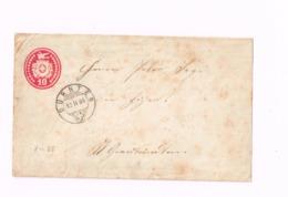 Entier Postal à 10 Centimes.Expédié De Dürnten à Zizers. - Enteros Postales