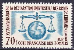 2019-0134 Côte Des Somalis 1963 Yv. 318 Neuf Sans Charnière MNH ** - Französich-Somaliküste (1894-1967)