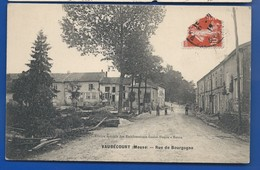 VAUBECOURT    Rue De Bourgogne       Animées       écrite En 1912 - Sonstige Gemeinden
