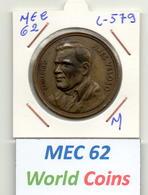 MEC 62 - REPUBLICA PORTUGUESA MEDALHA BRIGADEIRO PIRES VELOSO - L-579 - Entriegelungschips Und Medaillen