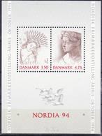 2019-0139 Denmark 1992 Nordia 94 MS Mi 8 MNH ** - Dänemark
