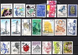 2019-0141 Denmark 1990-1999 Lot Key Values Used O - Dänemark