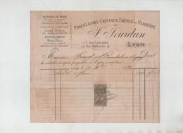 Jourdan Rue Lanterne Lyon 1894 Franc St Rambert Bugey Service De Table Poterie Coutellerie ... - Francia