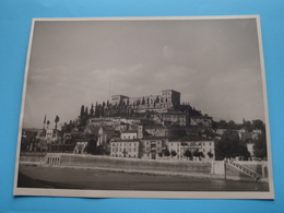 Verone VERONA L'Adige Le Théatre Romain Et . / Italy ( Format Photo 23,5 X 17,5 Cm. ) Anno 1952 ( Zie/Voir/See Photo ) ! - Lieux