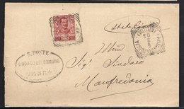ITALY ITALIA 1903. SINDACO DEL COMUNE DI ARIANO DI PUGLIA MANFREDONIA - 1900-44 Vittorio Emanuele III