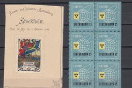 Stockholm VICINDO Vignette 1897 1955 (zie Scan) Etc 1955 Block Is Mnh - Suède