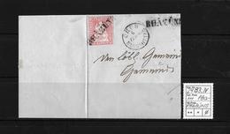 1854-1862 Helvetia (Ungezähnt) Strubel → 1860 Brieffragment BST RHÄZÜNS Via Chur Nach Wattwyl  ►SBK-24B3.IV◄ - Lettres & Documents