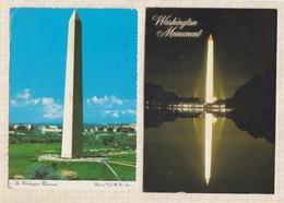 9AL1136 WASHINGTON MONUMENT Lot De 2 Cartes  2 SCANS - Etats-Unis