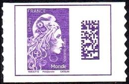 Autoadhésif(s) De France N° 1604 ** Marianne L'Engagée - Datamatrix Monde PRO - Francia