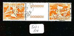 SUI YT 482b Inter Panneau SBK S60 En Obl - Tete Beche