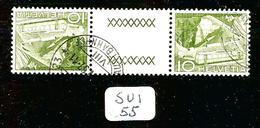 SUI YT 483b Inter Panneau SBK S61 En Obl - Tete Beche