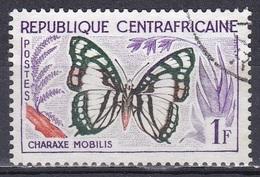 Zentralafrika Central Africa 1960 Tiere Fauna Animals Schmetterlinge Butterflies Papillion Farfalle, Mi. 5 Gest. - Zentralafrik. Republik