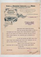 Union De La Boucherie Lyonnaise Et De La Région Fonderie De Suifs Margarine Rue De L'Abattoir Vaise Lyon 1917 Sevigne - Alimentaire