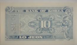 Petit Billet De Corée Du Sud 10 Jeon 1962 Neuf/UNC - Korea, South