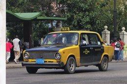 Lada Vaz 2101 Taxi In Havanna Cuba 2008  -   Carte Postale - Taxi & Carrozzelle