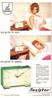 """PUB REVEILS """" JAZISTOR """" De """" JAZ """" 1964 ( 2 ) - Alarm Clocks"""