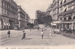 ALGERIE . ALGER . Rue De Constantine & Dumont D'Urville (Pub Bière Tourtel /Gd Café Continental /Pianos Orgues Musique - Alger