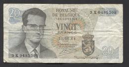 België Belgique Belgium 15 06 1964 -  20 Francs Atomium Baudouin. 3 X 0485308 - [ 6] Treasury