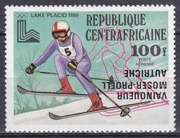 Zentralafrika Central Africa 1980 Sport Spiele Olympia Olympics IOC Lake Placid Schifahren Moser-Pröll, Mi. 673 ** - Zentralafrik. Republik