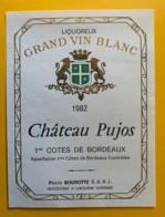 10469 - Château Pujos 1982 - Bordeaux