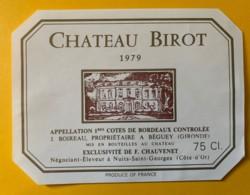 10473 - Château Birot 1979 - Bordeaux