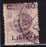 LIBIA 1922 SOPRASTAMPATO D'ITALIA ITALY SURCHERGED CENT. 40 SU 50 C. USATO USED OBLITERE' - Libia