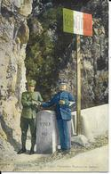 Cpa Douane, Douaniers Français Et Italiens à La Frontière, Menton - Customs
