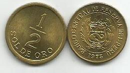 Peru 1/2  Sol De Oro 1975. - Peru