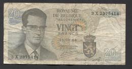 België Belgique Belgium 15 06 1964 -  20 Francs Atomium Baudouin. 3 X 2375414 - [ 6] Schatzamt