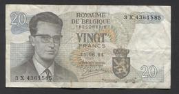 België Belgique Belgium 15 06 1964 -  20 Francs Atomium Baudouin. 3 X 4361585 - [ 6] Treasury
