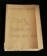 """( Chasse Essonne ) BOISSY-LE-SEC SOCIETE DE CHASSE  """" LES DERNIERES CARTOUCHES """" 1934/1935 Documents Originaux - Chasse/Pêche"""