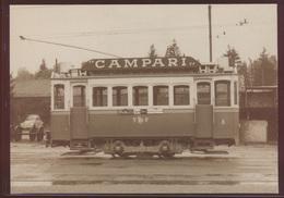 Eisenbahn Foto Ansichtskarte Motorwagen Ce 2 28 Der TF Tram Fribourg Um 1955 - Schienenverkehr