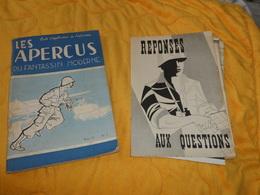 LIVRE ECOLE D'APPLICATION DE L'INFANTERIE . LES APERCUS DU FANTASSIN MODERNE AOUT 1957...N°3... - Livres