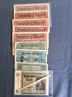 Lot De 45 Billets MARK   Reichsbanknote  Allemagne 1908/1925 - Monnaies & Billets