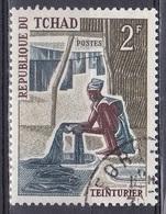 Tschad Tchad Chad 1970 Wirtschaft Economy Handwerk Handicrafts Berufe Professions Färber Dyer Dipper, Mi. 332 Gest. - Tschad (1960-...)