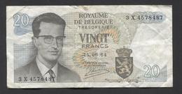 België Belgique Belgium 15 06 1964 -  20 Francs Atomium Baudouin. 3 X 4578487 - [ 6] Schatzamt