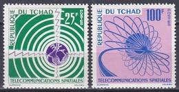Tschad Tchad Chad 1963 Weltraum Weltall Space Kommunikation Communication Satelliten Satellites, Mi. 97-8 ** - Tschad (1960-...)