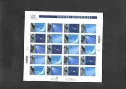 Winter Olympic 2002 Sheet Of USA  MNH - Winter 2002: Salt Lake City