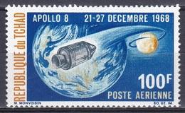 Tschad Tchad Chad 1969 Weltraum Weltall Space Raumfahrt Raumkapsel Apollo 8 Mond Moon Kosmos Lunar, Mi. 222 ** - Tschad (1960-...)