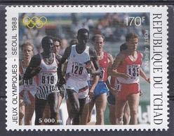 Tschad Tchad Chad 1988 Sport Spiele Olympia Olympics IOC Seoul Laufen Leichtathletik Athletics, Mi. 1167 ** - Tschad (1960-...)