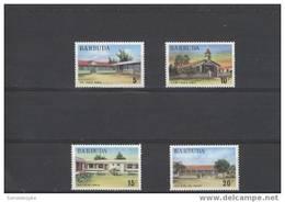 K21156 Set MNH  Barbuda   1974 - Buildings -school -hospital ... - Antigua & Barbuda (...-1981)